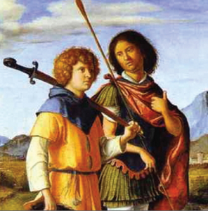 치마 다 코넬리아노(Cima da Conegliano), '다윗과 요나단' 중 일부. 1505-1510년작