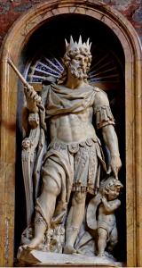 산타 마리아 마조레 대성당의 <니꼴라 꼬르띠에> 작품 – 다윗 왕.